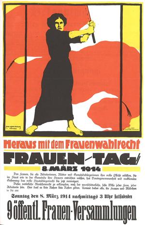 Plakat zum Frauentag 1914 von Karl Maria Stadler