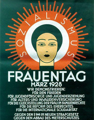 Plakat Frauentag 1928