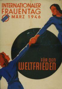 Frauentagsplakat der SPÖ 1946, Stiftung Bruno-Kreisky-Archiv (ehem. Archiv des Renner-Instituts)