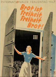Frauentagsplakat der SPÖ 1947, Stiftung Bruno-Kreisky-Archiv (ehem. Archiv des Renner-Instituts)