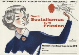 Wandzeitung der SPÖ zum Frauentag 1964, Bild: ÖNB, Bildarchiv Austria