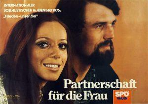 Wandzeitung der SPÖ zum Frauentag 1976, Stiftung Bruno-Kreisky-Archiv (ehem. Archiv des Renner-Instituts)
