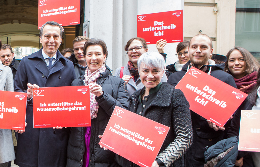 Frauentag 2018: SPÖ mobilisiert für Frauen*Volksbegehren Foto: SPÖ
