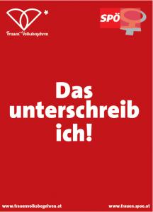Frauen*Volksbegehren 2018: SPÖ-Frauen - Das unterschreib' ich!