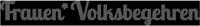 Logo Frauen*Volksbegehren 2018