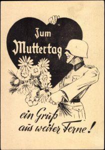 Feldpostkarte zum Muttertag, Zweiter Weltkrieg