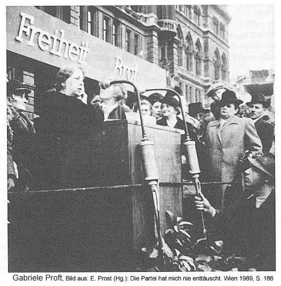 Gabriele Proft, Bild aus: E. Prost (Hg.): Die Partei hat mich nie enttäuscht. Wien 1989, S. 186