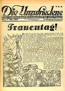 Die Unzufriedene (1923-1934), Nachfolgerin: Die Frau (1945-1984), Neue Frau (1984-1987); Bild: Ariadne/ÖNB